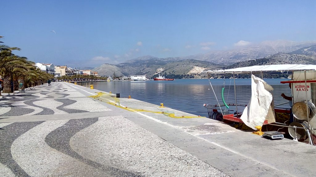 Argostoli by motorboat