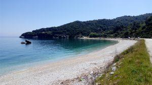 Following the road between Skala and Poros