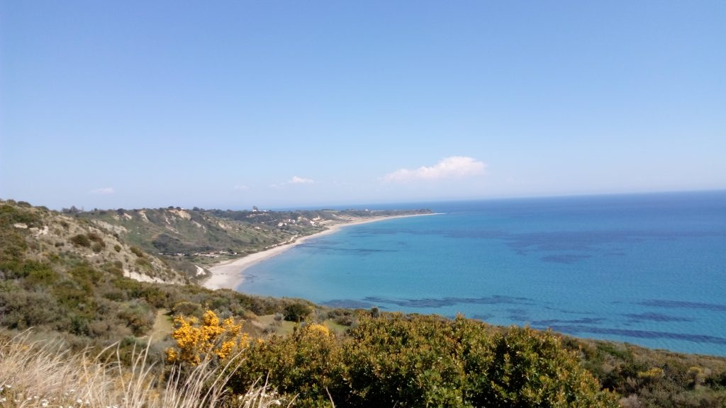 Mounda bay beaches near Skala