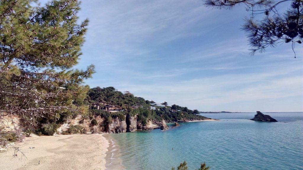 Mit Motorboot von Argostoli die Küste entlang