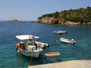 Mooring fishingboat in Kefalonia