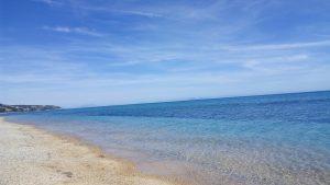Pebble beach of Skala