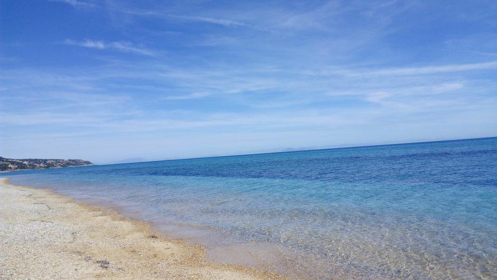 Der lange Strand von Skala