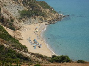 Koroni beach view from above