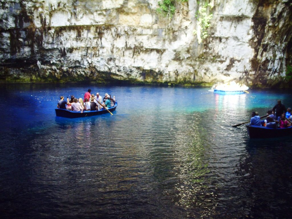Melissani rowing boats