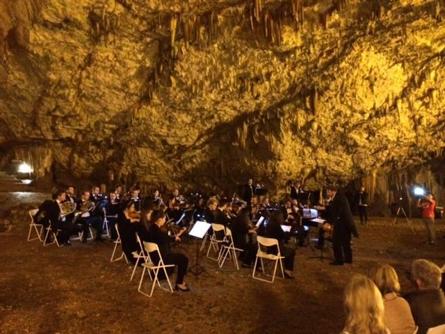 Konzert in der Drogarati Höhle auf Kefalonia, Griechenland