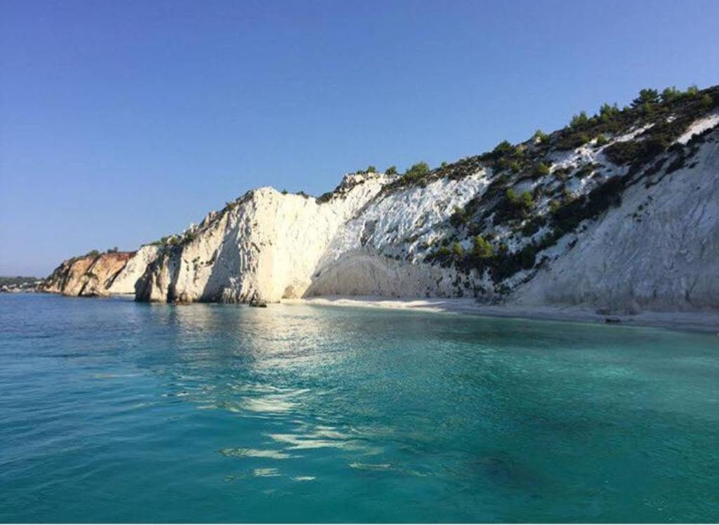Secluded beach near Kefalonia airport