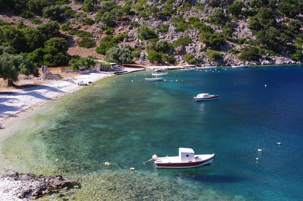 Agia Sofia beach in Kefalonia, Greece