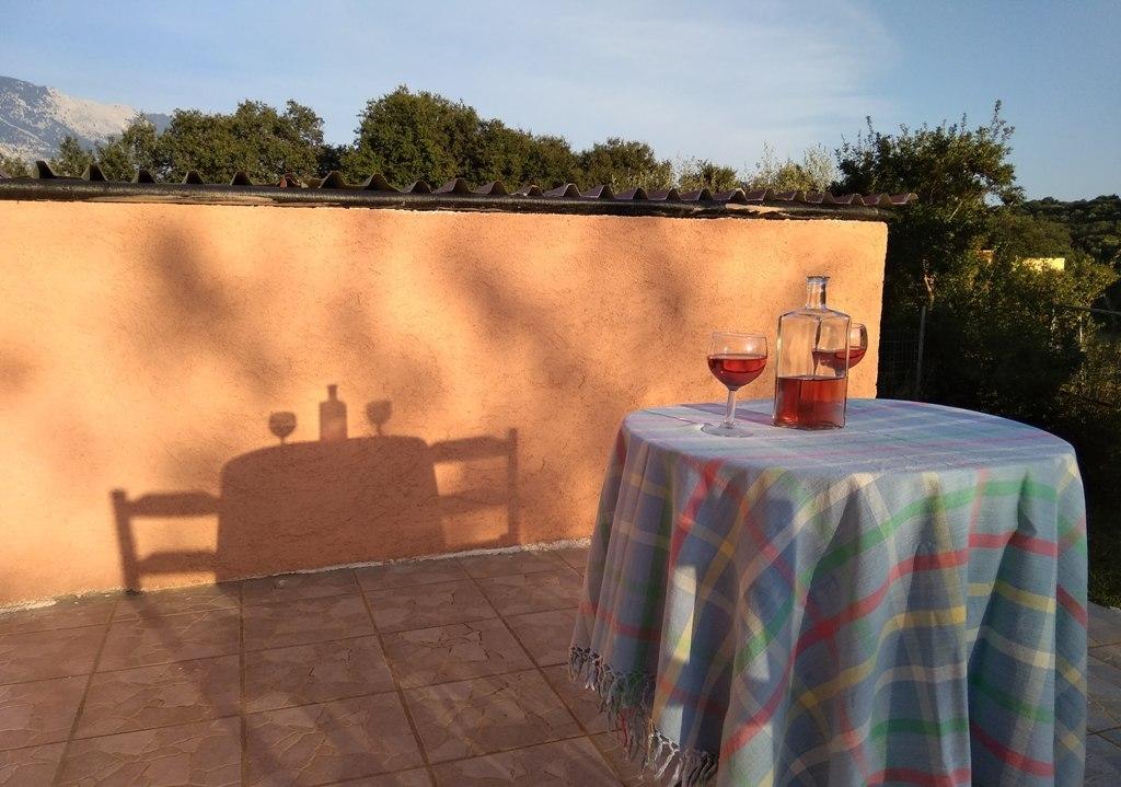 Abendsonne auf der Terrasse von Joleni Cottage