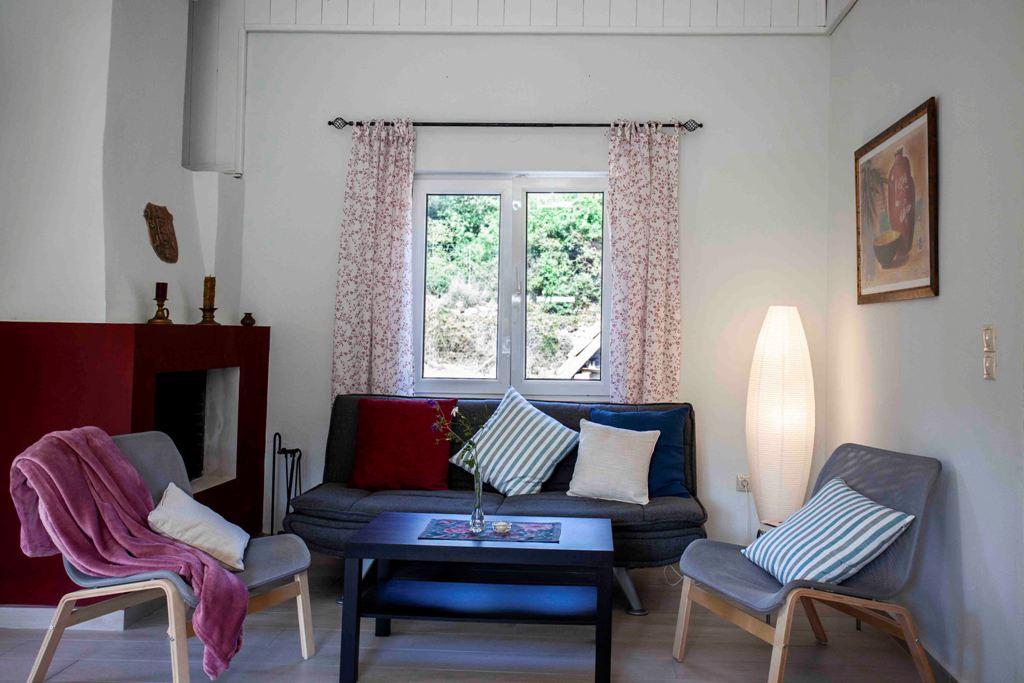 Sitzecke im Ferienhaus Joleni Cottage
