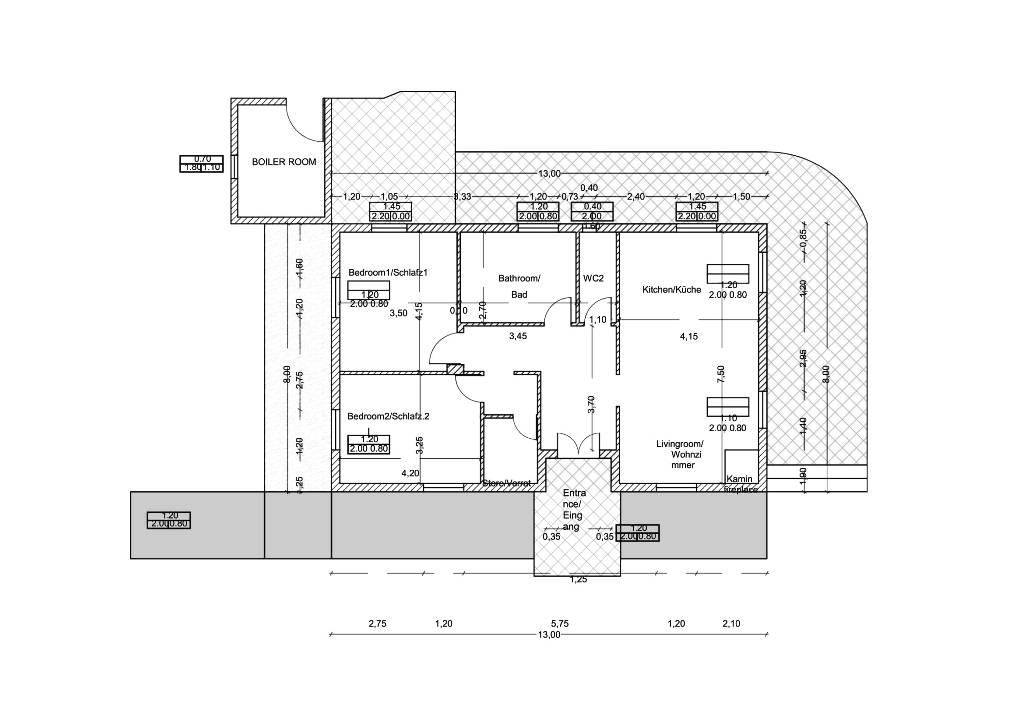 Grundriss von Joleni Cottage Kefalonia