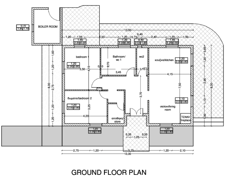 Floor plan of Joleni Cottage