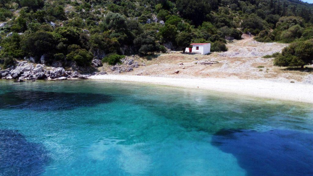 Secluded beach between Agia Efimia and Fiskardo on Kefalonia