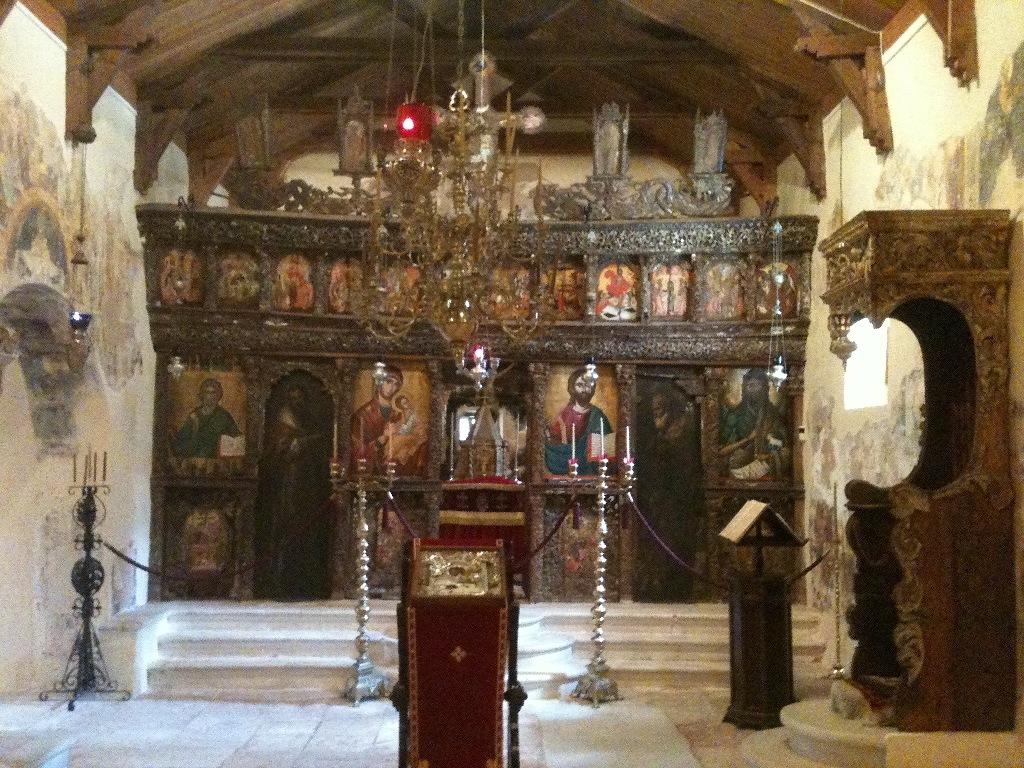 Ikonostase der Museumskirche Agios Andreas auf Kefalonia