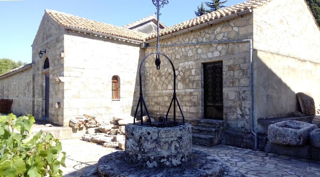 Hinteransicht der Kirche des Heiligen Andreas Kefalonia