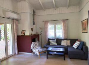 Living area of Joleni Cottage in Kefalonia